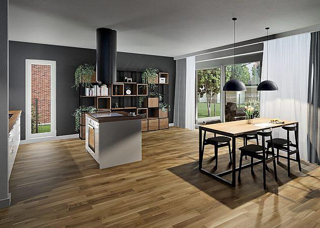 Bachstraße - offene Küche / Esszimmer