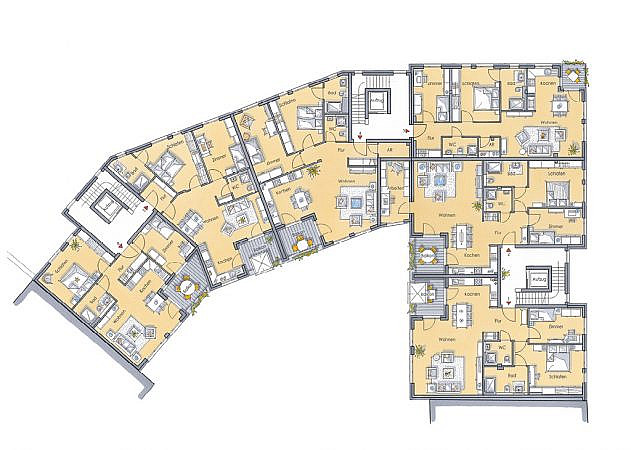 St. Martinus Quartier - Grundriss 1. Obergeschoss