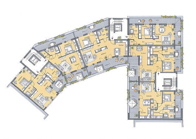 St. Martinus Quartier - Grundriss 2. Obergeschoss