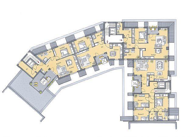 St. Martinus Quartier - Grundriss Dachgeschoss