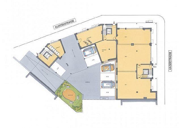 St. Martinus Quartier - Grundriss Erdgeschoss