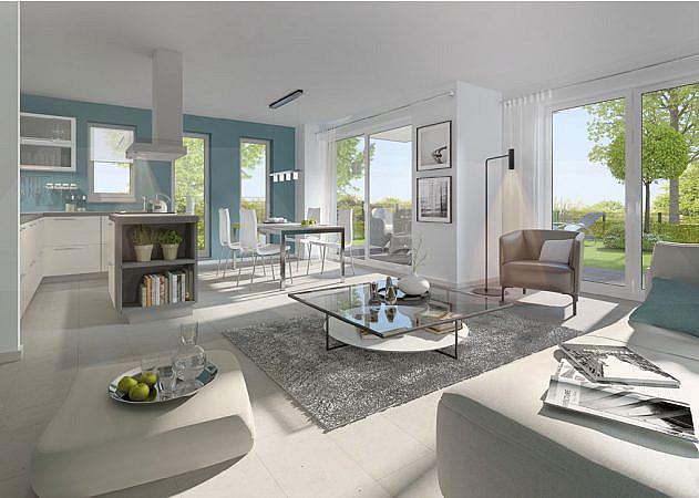 Hugo-Zade-Weg - Ansicht Wohn-Esszimmer | Wohnung 1