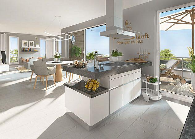 Hugo-Zade-Weg - Ansicht Küche | Penthouse